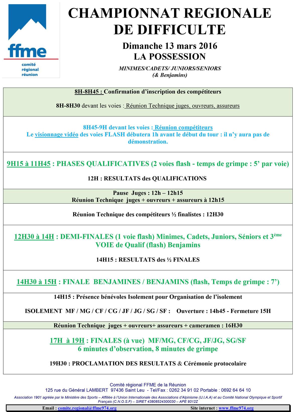 CHAMPIONNAT REGIONAL DE DIFFICULTE 2016 - FFME 974 62786343f5c